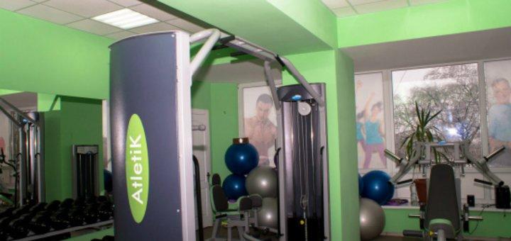 Скидка на месячный безлимитный абонемент в тренажерный зал в фитнес-клубе «Atletik»
