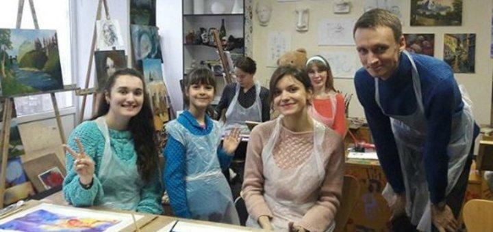 Абонемент на занятия масляной живописью от «Etude House»